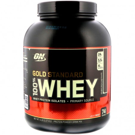 Optimum Nutrition, Gold Standard, 100% Whey, Double Rich Chocolate, 5 lbs (2.27 kg)