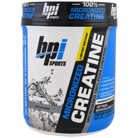 BPI Sports, Micronized Creatine, Limited Edition, Unflavored, 1.32 lbs (600 g)