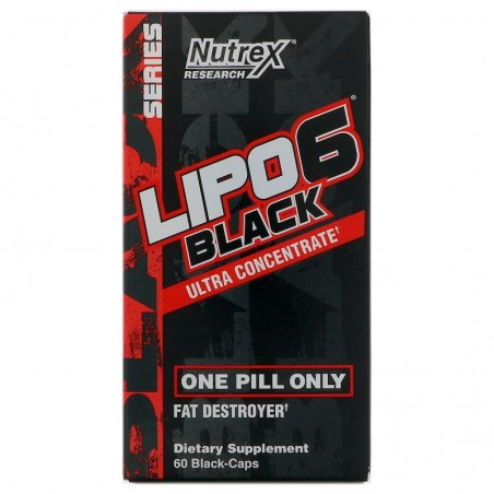 Nutrex Research, Lipo-6 Black Ultra Concentrate, 60 Black-Caps